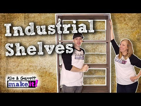 How To Make An Industrial Bookcase for Under $100 DIY Furniture