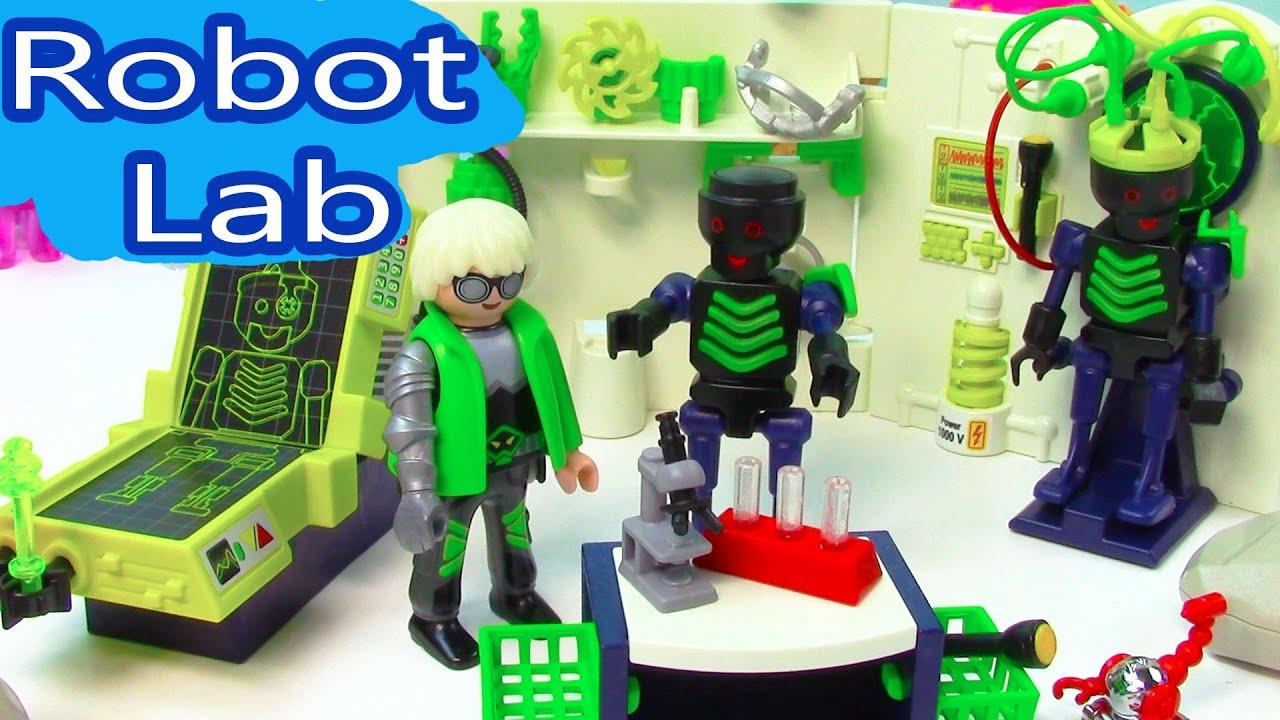 Playmobil Mad Sceintist Robot Lab Maker Playset Blind Bag