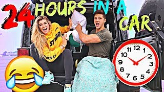 24 HOURS LIVING IN MY CAR WITH MY BOYFRIEND CHALLENGE! *CRAZY ENDING*