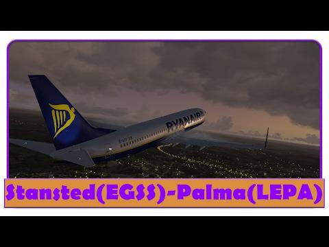 [FSX] RYR32LT | Stansted-Palma de mallorca | RYANAIR | PMDG 737-800 |