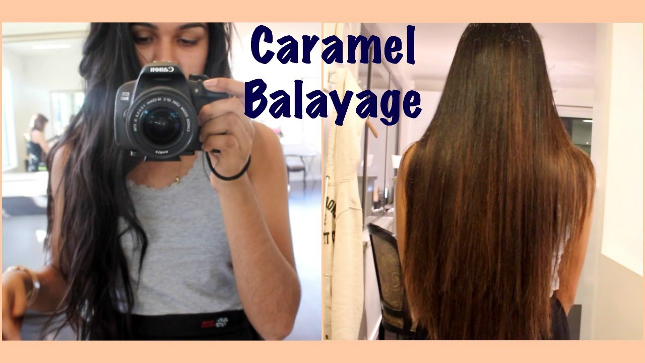 Vlog: Caramel Balayage! First Time Getting Hair Dyed - YouTube