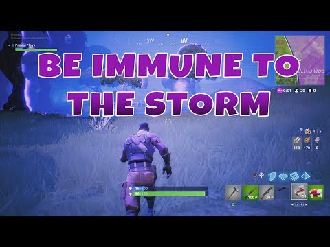 FORTNITE HOW TO SURVIVE THE STORM, BE IMMUNE TO THE STORM, SURVIVE LONGER - Fortnite Battle Royale