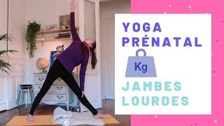 Yoga prénatal pour jambes lourdes