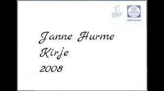 Janne Hurme - Kirje (2008)