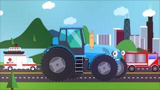 Полный сборник мультиков про синий трактор и его друзей. Все серии развивающие мультики для детей
