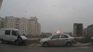 видео Видео с регистратора мариуполь обстрел