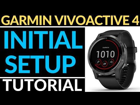 initial-setup---garmin-vivoactive-4-tutorial---getting-started