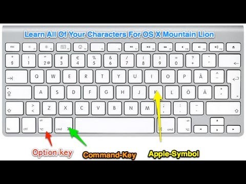 How To Use Special Characters On Os X Mountain Lion Youtube
