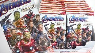 AVENGERS ENDGAME Wafers 『1BOX 開封』 アベンジャーズ エンドゲーム ウエハース マーベル MARVEL 食玩 Japanese candy toys