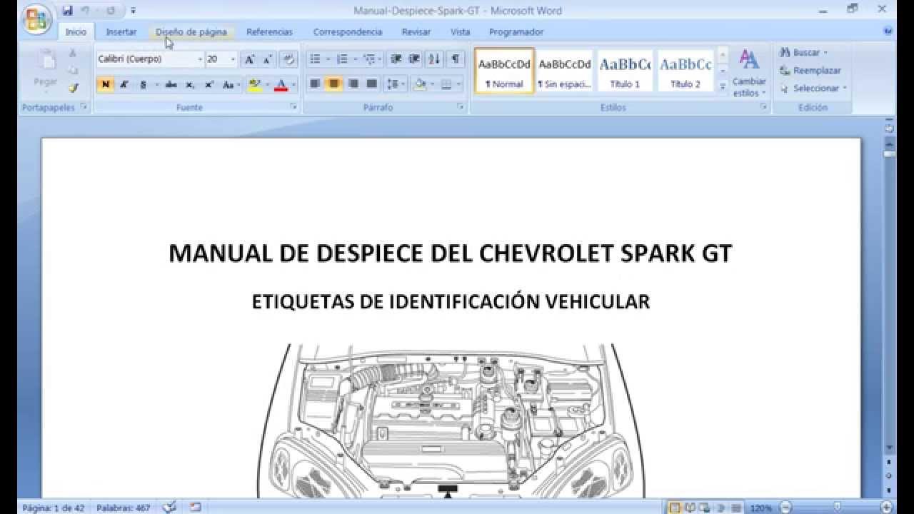 Manuales Chevrolet Spark Gt
