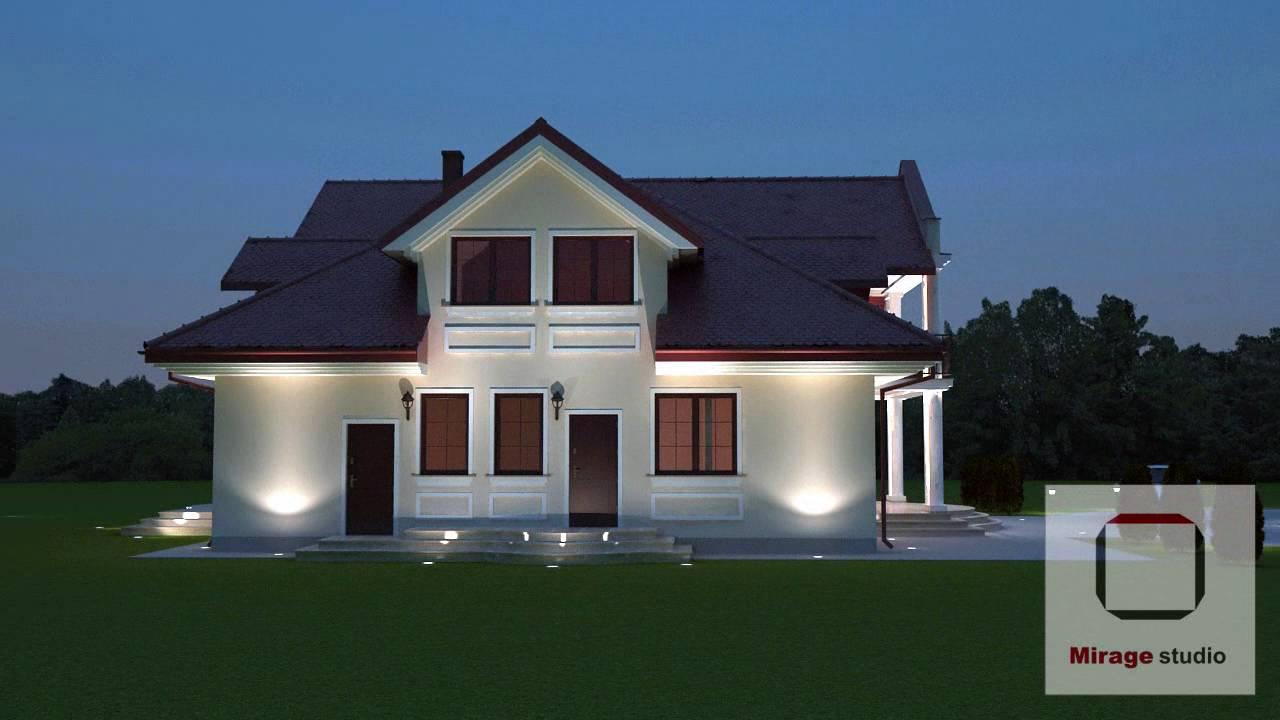 Projekt Elewacji Domu 270m2 W Stylu Dworkowym Youtube