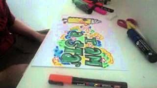 GRAFFITI-Spray Can Drawing