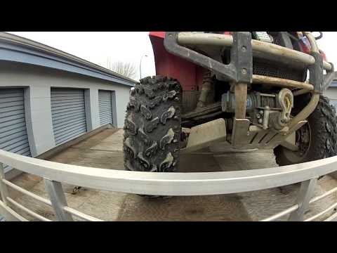 Marathon Sled deck ATV loading with 8Ft ramp