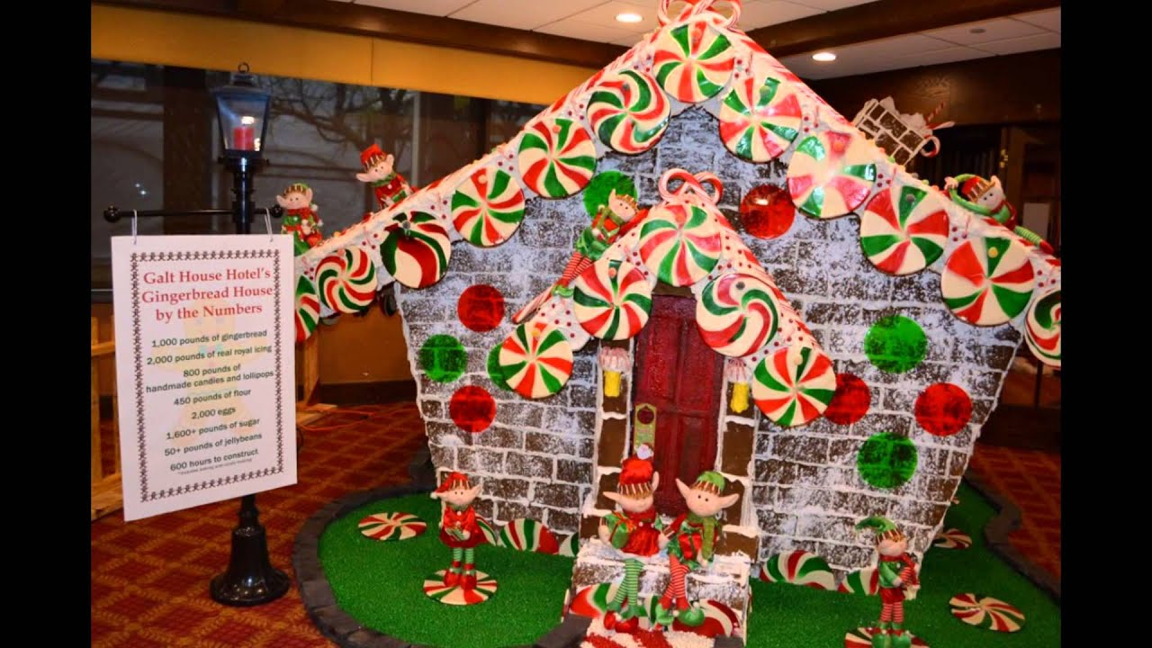 outdoor christmas gingerbread house inspiration