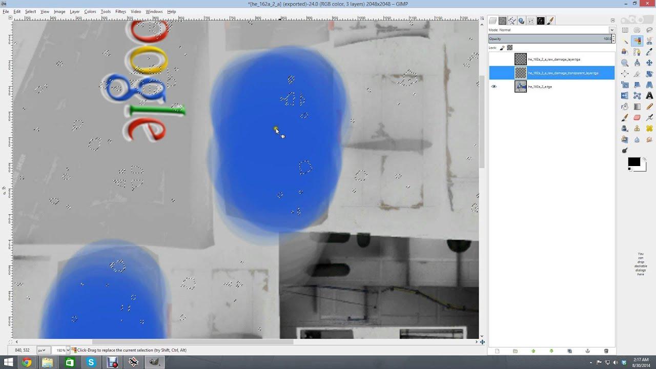 create customer damage skin with damage layer [ 1920 x 1080 Pixel ]