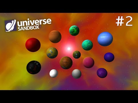Making A Solar System Out Of Rainbow Coloured Objects Part 2, Universe Sandbox ²