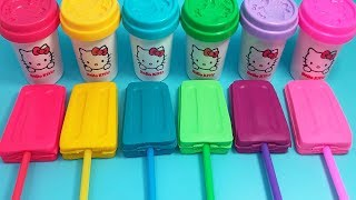Play Doh Ice Cream Make Fun 6 Paw Patrol Mighty Pups Molds - Learn Colors & Surprise Toys for Kids