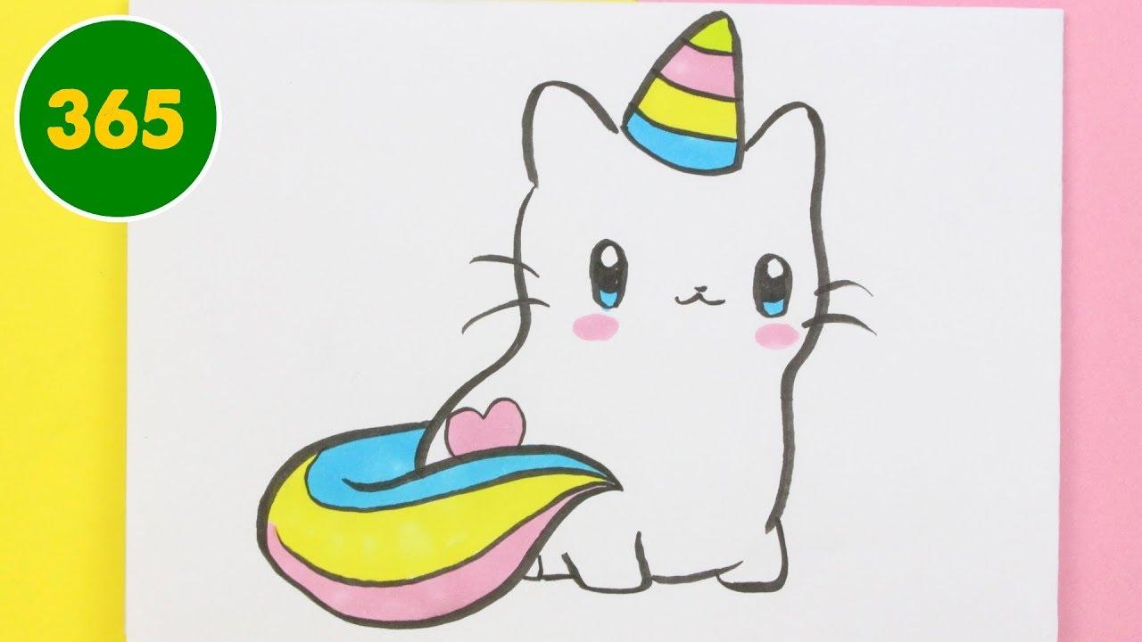 Come Disegnare Gatto Unicorno Kawaii Come Disegnare Unicorno
