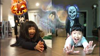 해골유령과 호박유령의 전설 해골귀신 호박귀신 무서운이야기 유령대소동 유령 Pumpkin ghost VS Skull ghost l halloween tales for kids