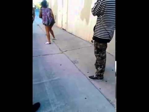 Two hood. Girls fight. Head up