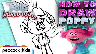 How to Draw POPPY | TROLLS WORLD TOUR