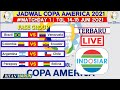 Jadwal Copa America 2021 | Copa America Matchday 1 Babak Fase Grup Terbaru | Live Indosiar