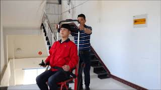 RH 11G  Multifunctional Electric Stair Climbing Wheelchair——help the elderly up and down stairs