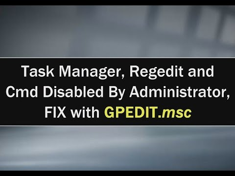 Fix Task Manager Regedit And Cmd Disabled By Administrator