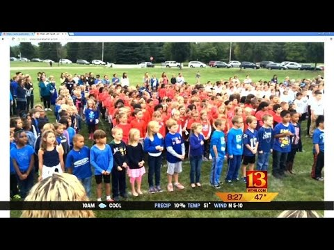 Fishers Students Celebrate Star Spangled Banner