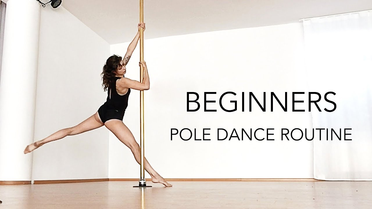 Beginners Pole Dance Routine VERY SIMPLE (First Pole class ...