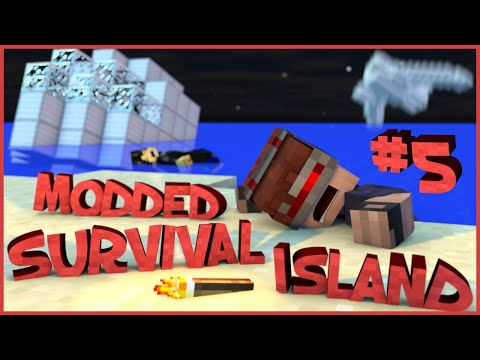 Survival Island Modded - Minecraft: Entering The Door! Part 5  (STORY)