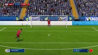 FIFA 2018 | Uruguay vs Portugal | Penalty Shootout | Suarez  vs Ronaldo | Gameplay PS4