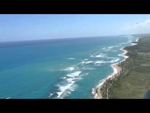 Views over dominican Republic from the air 4K HD