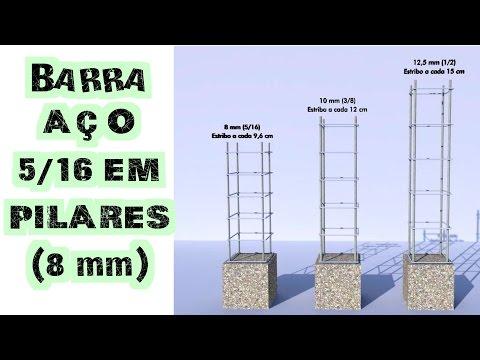 Pode ou não pode barra de 5/16 (8 mm) em pilares?