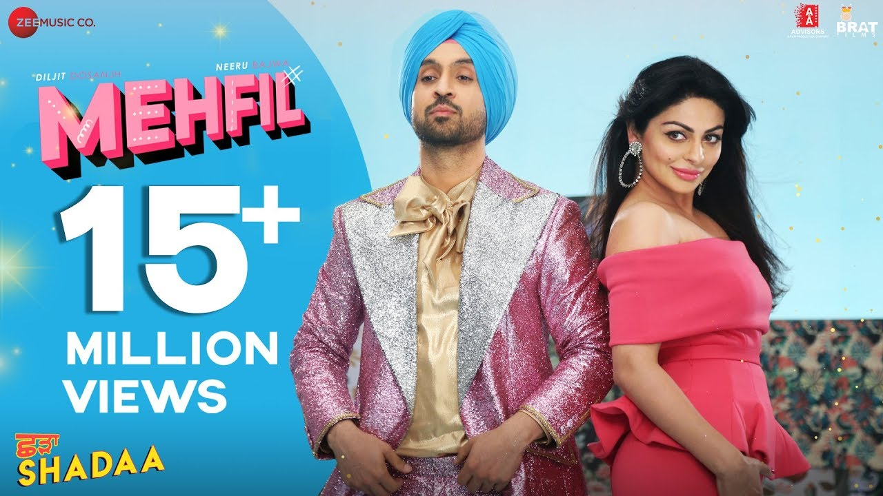 Download MEHFIL - SHADAA | Diljit Dosanjh | Neeru Bajwa | New Punjabi Dance Song 2019
