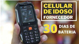 FORNECEDOR CELULAR DE IDOSO. MODELO POWER PHONE COM BATERIA QUE DURA ATÉ 30 DIAS