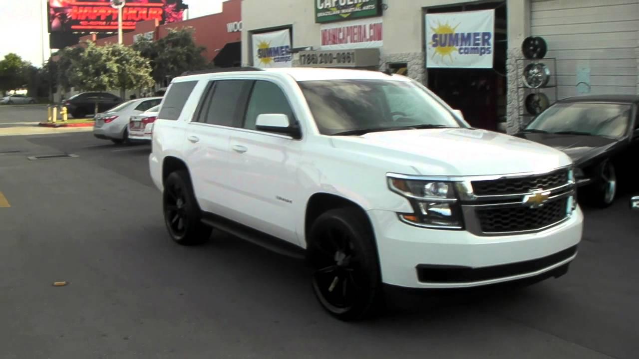 "877 544 8473 22"" Inch KMC KM651 Slide Black Wheels 2015 Chevy Tahoe"