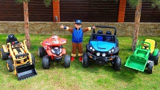 Funny Paw Patrol Ride on POWER WHEEL Jeep, Lamborghini, Tractor, Bmw, Excavator and Quad Bike
