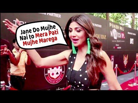 Shilpa Shetty AFRAID of Husband Raj Kundra   Indian Poker League Opening Ceremony