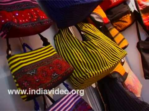 Colourful handmade bags, Manipur, Shopping, Dilli Haat, New Delhi, India