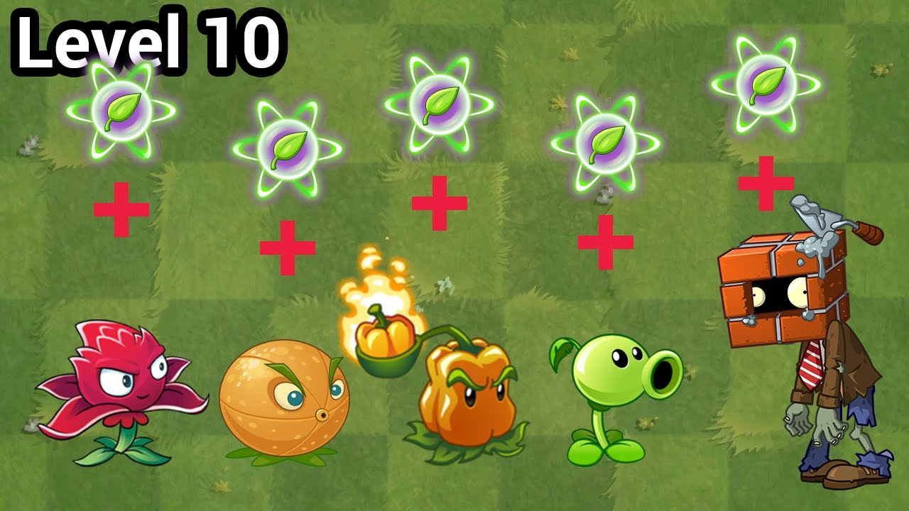 Plants vs Zombies 2 Free Plants Power Up vs Brickhead Zombie