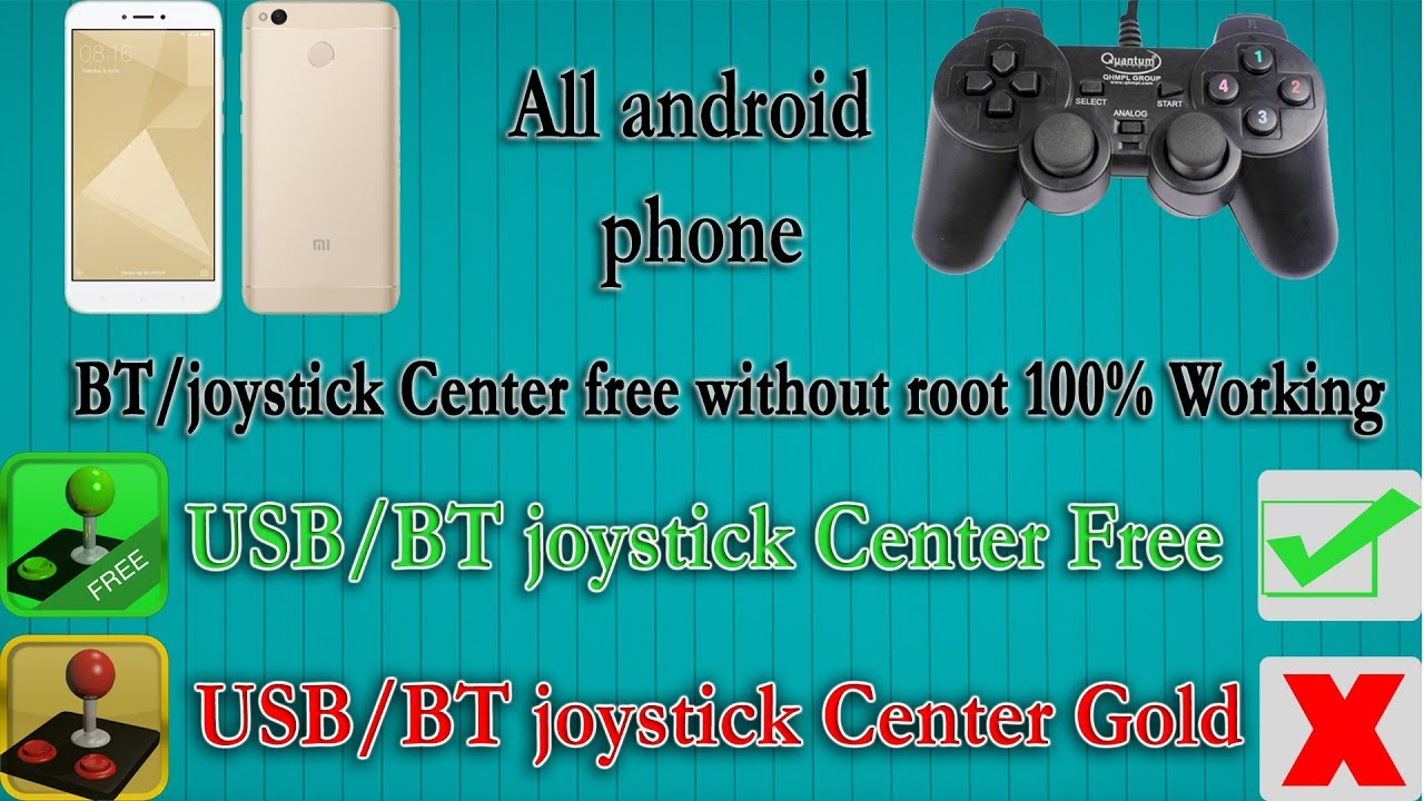 how to connect your All android phone controller with this app  (bt/joycenter free) wtout root