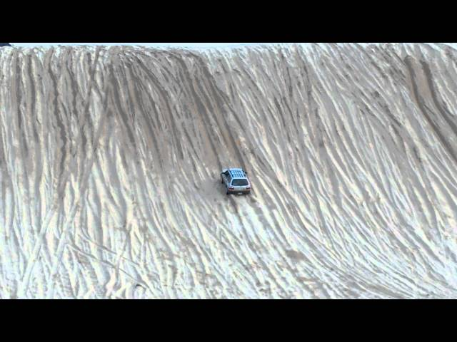 Stock Subaru shames everyone at test hill