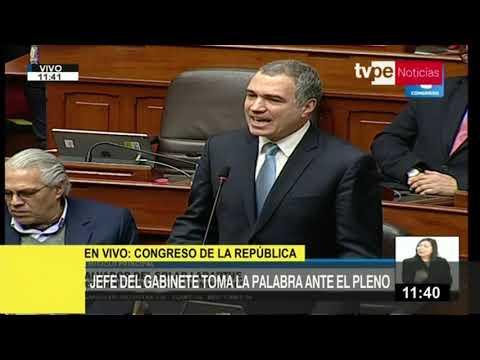 Premier Salvador del Solar plantea cuestión de confianza ante el Pleno