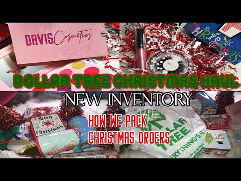 VLOGMAS| DOLLAR TREE CHRISTMAS HAUL| NEW INVENTORY| HOW WE WILL BE PACKAGING CHRISTMAS ORDERS