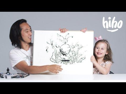 Kids Describe Aliens to an Illustrator | Kids Describe | HiHo Kids