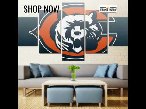 5 Piece Chicago Bears American Football Canvas Wall Art Paintings ...