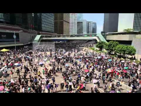 CHINA: HONG KONG PROTESTS - TIME LAPSE VIDEO