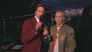 Anchorman's Ron Burgundy at the MTV EMAs: 'Miley Cyrus is a classy lady'