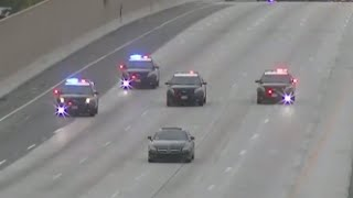 WILD Car Chase Shuts Down LA Freeway